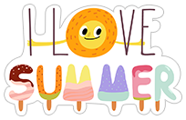 Summer Sun sticker 9