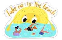 Summer Sun sticker 10