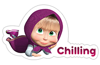 Стикер Masha and the Bear 18