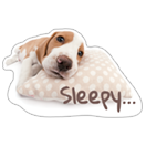 Стикер THE DOG sleepy 4