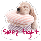 Стикер THE DOG sleepy 6