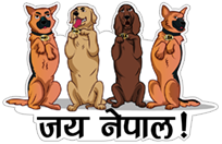 50 Years of Nepal Police Dogs sticker 11