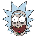 Rick and Morty Moji sticker 13