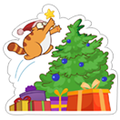 Happy HOHOHO Holiday sticker 1