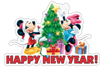 Стикер Mickey and New Year 4