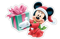 Стикер Mickey and New Year 19