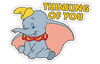 Dumbo sticker 1