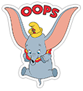 Dumbo sticker 2