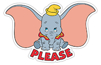 Dumbo sticker 8