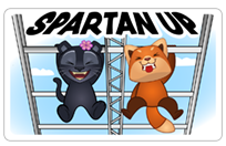 Стикер The Spartan Pack UK 4