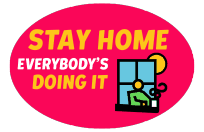WHO Healthy at home sticker 1