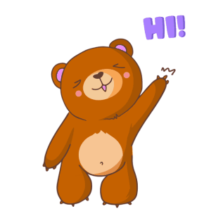 «Bear With Me!» sticker #1
