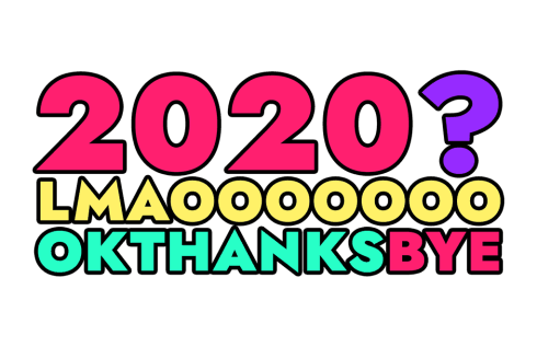 «BYE 2020» sticker #9
